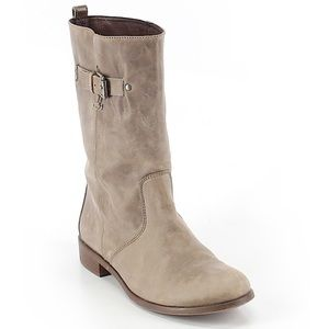 J Crew tan leather boots, light weight 9